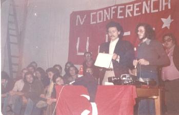 iv conf ujce, acte public, massimo d'alema sg fgci oct 1976