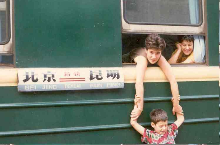 1988 08 001 viatge en tren a Yunnan
